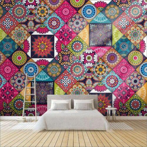 3D Custom Mandala Symbol Mosaic Wallpaper Minimalist Abstract Home Background