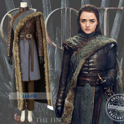 2019 Game of Thrones Season8 Costume Arya Stark Cosplay Dress Outfits Custom Siz](Arya Game Of Thrones Costume)