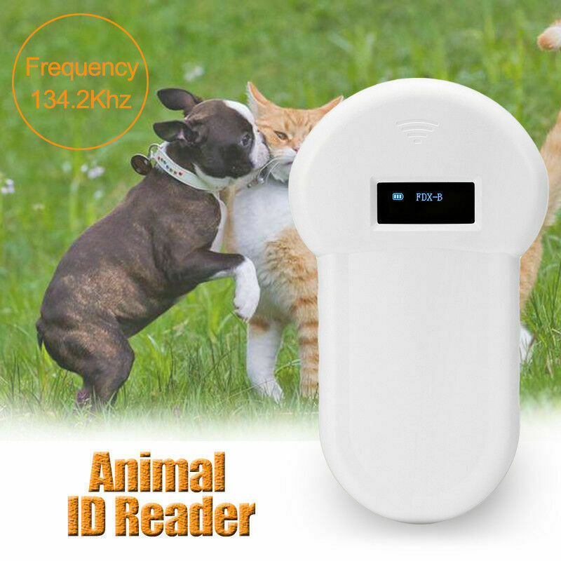 Portable RFID ISO FDX-B Animal Chip Reader Microchip Handheld Pet Dog Scanner