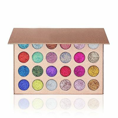 Fashion Pressed Glitter Eyeshadow Palette 24 Colors