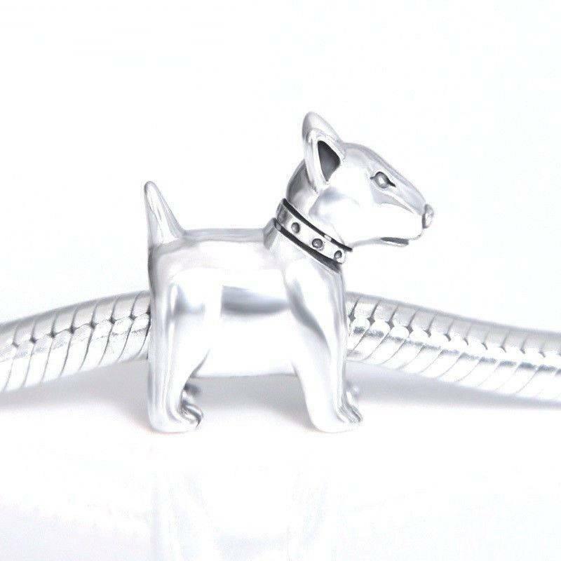 Bull Terrier Charm Sterling Silver