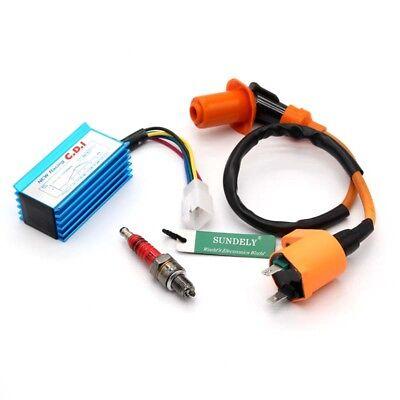 For 110cc 125cc 150cc Braap SSR DHZ Pit Dirt Bike Racing CDI Ignition Coil Plug