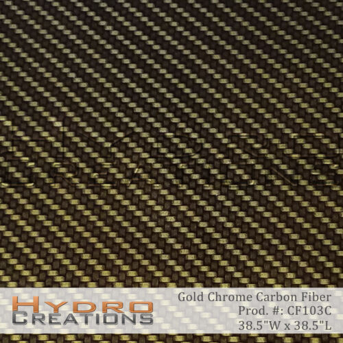 HYDROGRAPHIC FILM FOR HYDRO DIPPING WATER TRANSFER FILM GOLD CHROME CARBON FIBER