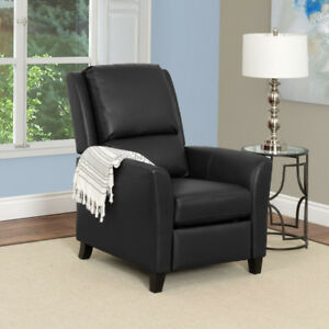 Kate Contemporary Bonded Leather Recliner - Black New in Box