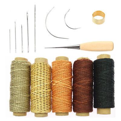14 Stück Leder Handwerk Werkzeug Leder Nähen Set Nadeln Nähen Wachsfaden Set ()