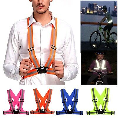 Adjustable Safety Security Visibility Reflective Vest Gear Stripes Jacket