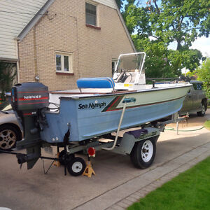 17 ' Sea Nymph aluminum fishing boat for sale