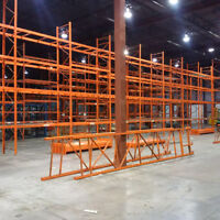 We buy and sell pallet rack, industrial shelving and more