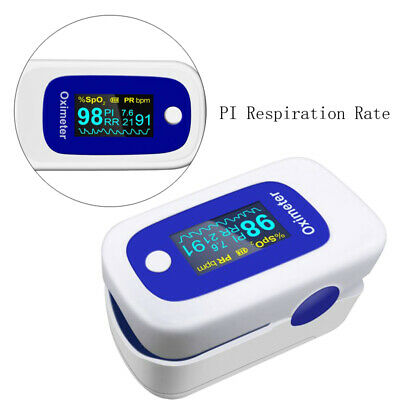 Usa Oled Fingertip Pulse Oximeter Audio Alarmpulse Sound Spo2 Pr Pi Respiration