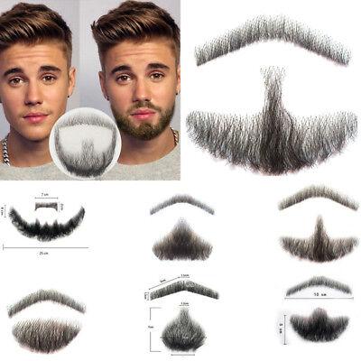 Fashion Men Beard Human Hair Man Fake Beard Simulation Mustache Makeup Drama (Fake Beard Hair)