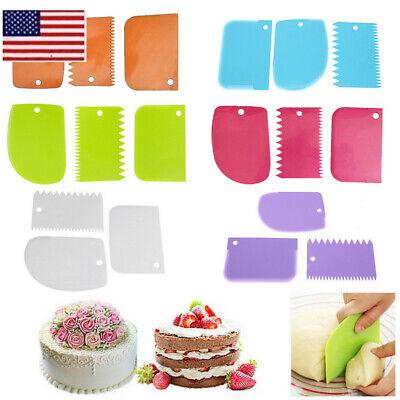 3pcs Plastic Dough Icing Fondant Scraper Cake Baking Pastry Decorating Tools OCC](Cake Decorator)