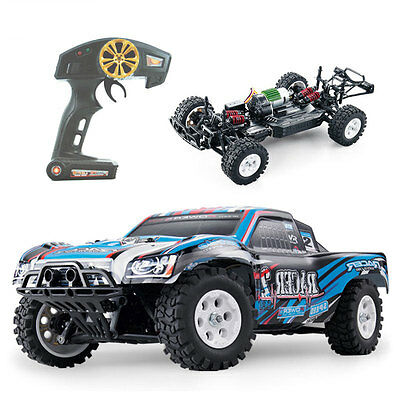 Rc Monster Truck Car Electric Remote Control Fast Speed Rtr 1 16 2 4Ghz 4Wd Blue