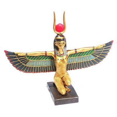 Isis Sonnenscheibe gold bunt Polyresin  NEU