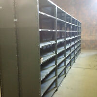 "Steel Industrial Shelving Units 42"" x 18"" x 7'4 - Lots in stock!"