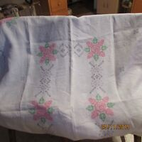 hand cross stitched table cloth