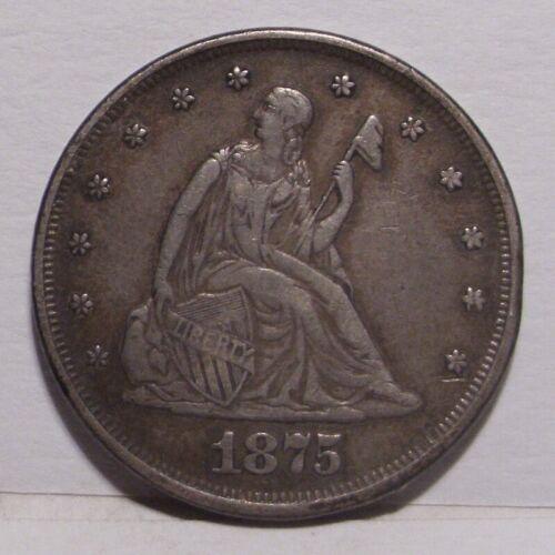 1875 Twenty Cent Piece , XF