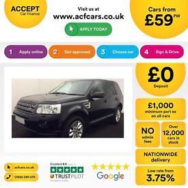 LAND ROVER FREELANDER 2 2.2 SD4 HSE XS GS SE TECH SPORT LE FROM £59 PER WEEK!