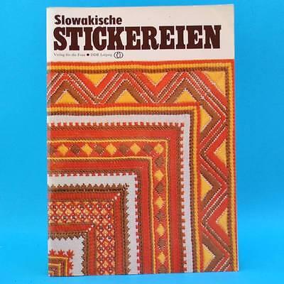 Slowakische Stickereien   Sticken   Verlag für die Frau   DDR 1984 B