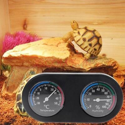 Reptile Tank Thermometer Hygrometer Monitor Temperature Humidity in Terrarium