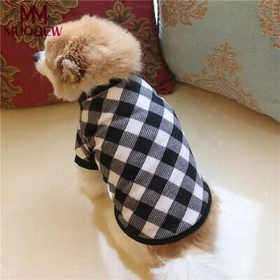 DOG JUMPER HOODY CHIHUAHUA YORKIE PUPPY TOY TINY TEACUP grey check xs...