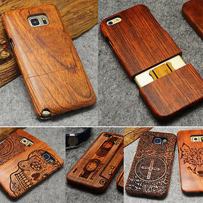 Natural Luxury Wood Phone Bamboo&PC Case Cover For Samsung Galaxy S10e S9 Plus