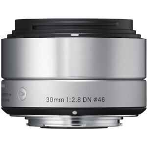 Sigma 30mm f2.8 DN SIlver lens for Sony E-mount