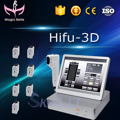 Portable 3D HIFU machine Wrinkle Removal Face and Body Lifting For Beauty Salon