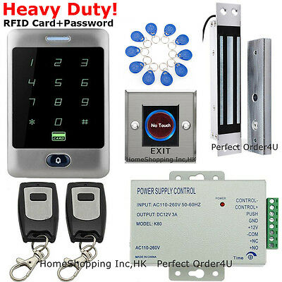 Waterproof Metal RFID Card+Password Door Access Control System+Magnetic Lock New