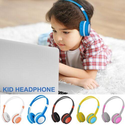 Wired Boy Girl Kids Headphones Safe Over-Ear Earphones for i