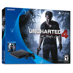 Ps4 slim 500 Go + manette + Uncharted 4 comme neuf