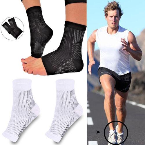 Kompressions Socken Fersensporn Bandage Anti Müdigkeits Schwellung Schwarz Weiß