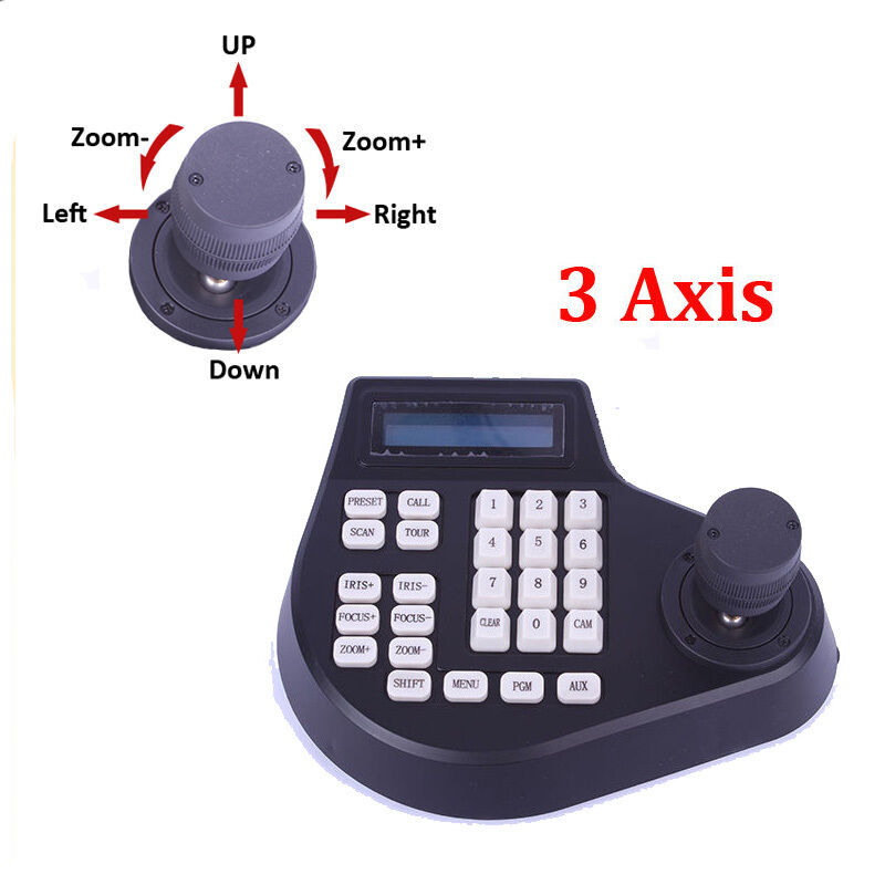 3 Axis Dimension joystick cctv keyboard controller for ptz Speed Dome Camera A