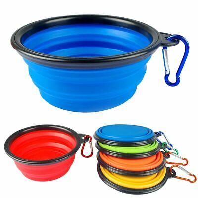 Foldable and Portable Silicone Dish Dog Cat Feeding Food Water Bowl Random Color