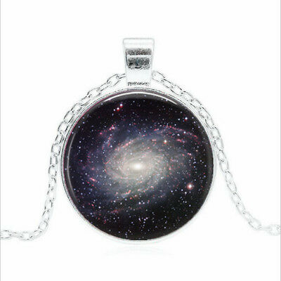 Milky Way Galaxy Tibet Silver Glass Dome Necklace Chain Pendant Wholesale