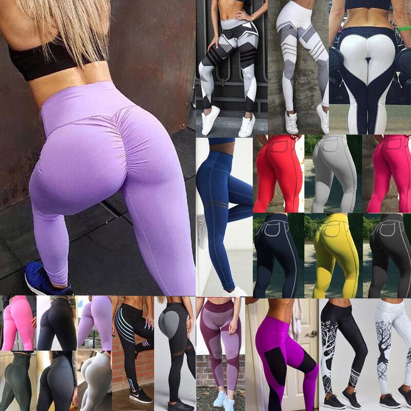 fe35c12578 Womens Workout Leggings Yoga Gym Slim Fit Sports Training Hip Push Up Pants  LQ 12.88 USD