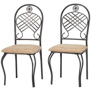 Microfiber Dining Chair - Set of 2, New