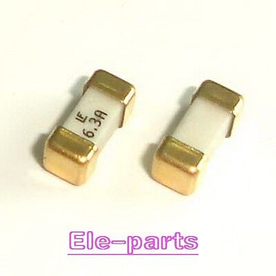 10 Pcs 1808 6.3a 125v Littelfuse Fast Acting Smd Fuse