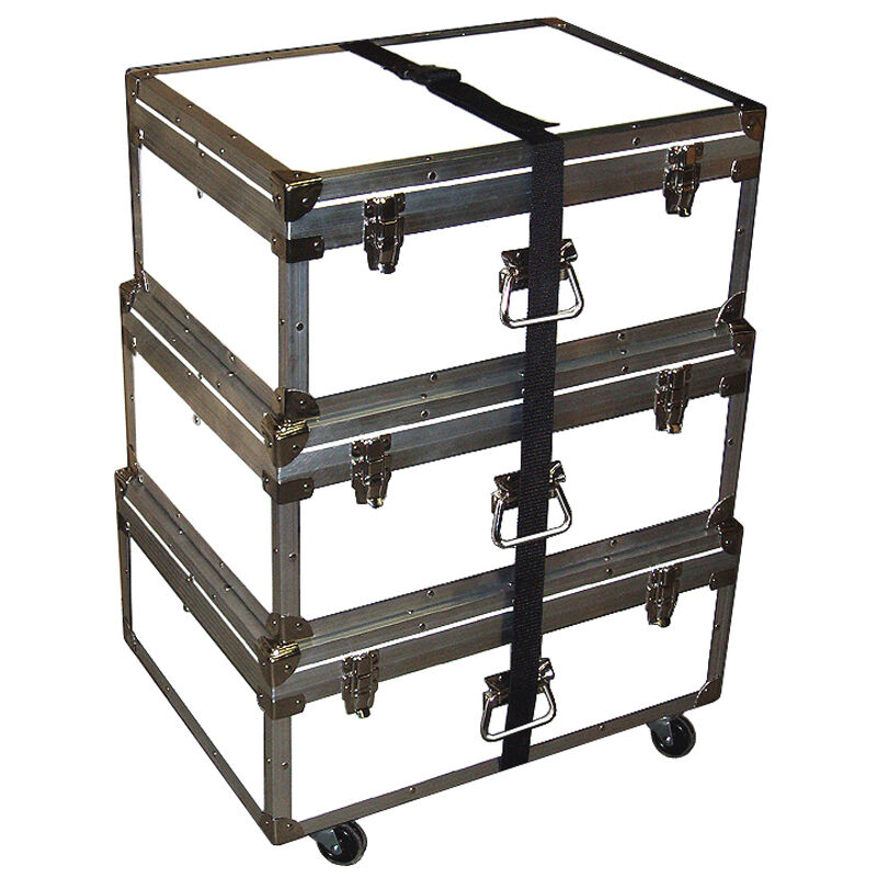 """Triple Accessory Case Rolling Stack! 1/4"""" Medium Duty - Many Colors! - WHITE"""