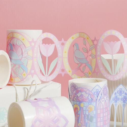 """Pink Europe"" 1pc Beautiful Hollow Masking Washi Tape Scrapbooking Decor Sticker"
