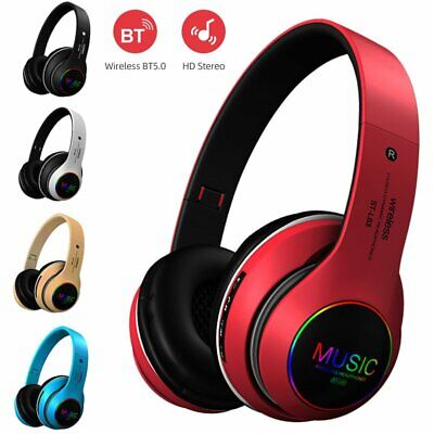 Foldable Bluetooth 5.0 Headphones Earphones Wireless Headset Noise Cancelling