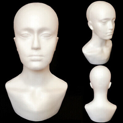 3xfoam Male Display Mannequin Head Dummy Wigs Hat Scarf Stand Model T1h5
