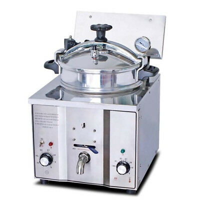 16l Chicken Pressure Fryer 50-200 Stainless Steel Kitchen Cooking Countertop