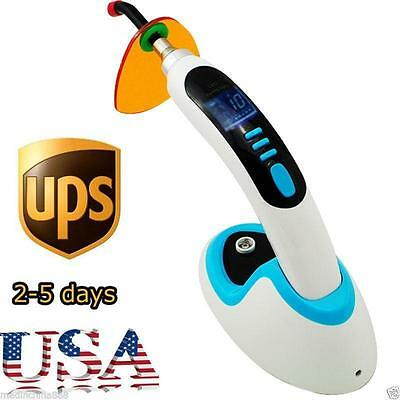 Hot 10w Wireless Cordless Led Dental Curing Light Lamp 2000mw Whitening Blue Us