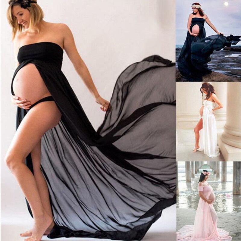 Schwangere Mutterschaft Bandeau Umstandskleid Schwangerschaftskleid Fotoshooting