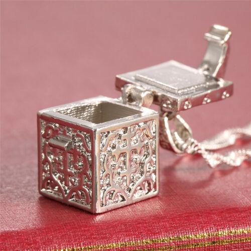 Women's Men's Love Cube Secret 925 Silver Necklace Pendant C