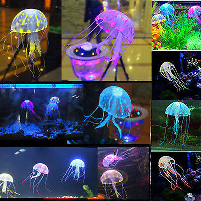 Decor Jellyfish Aquarium Decoration Artificial Glowing Effect Fish Tank Ornament (Glow Decorations)