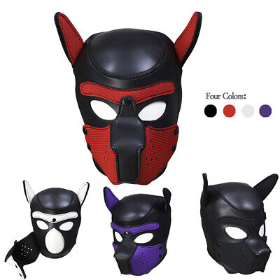FAST UK Cosplay Role Puppy Dog Mask Play Women Men Head Hood Props Adult Toys