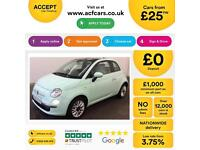 Fiat 500 1.2 ( 69bhp ) 2014MY LOUNGE FROM £25 PER WEEK !