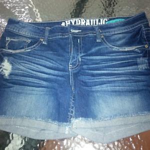 hydrolic jean shorts