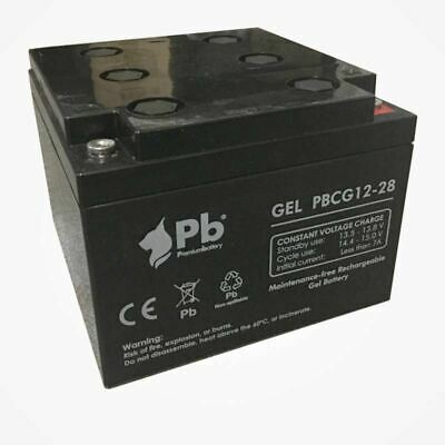 Batería carro de golf/moto eléctrica PB Gel Ciclo profundo PBCG12-28 12V 28Ah